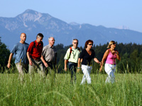 Aktivurlaub in Bayern: Nordic Walking in Bad Heilbrunn